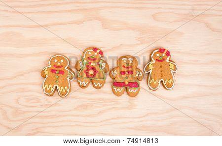 Christmasgingerbread cookies