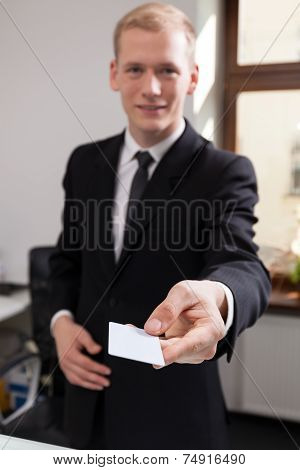 Receptionist Working At The Hotel