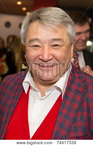 MOSCOW - OCTOBER, 7: Alimzhan Tokhtakhunov. Premiere of the movie Solnechny Udar, October,7 , 2014 at Octyabr Cinema in Moscow, Russia