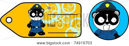 panda bear angry cop cartoon giftcard