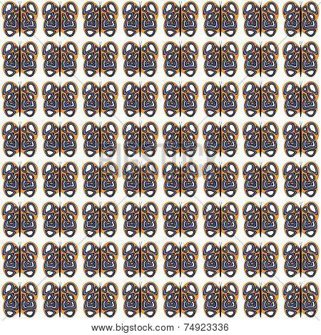 Orange-White-Purple Medium Sized Butterfly Pattern