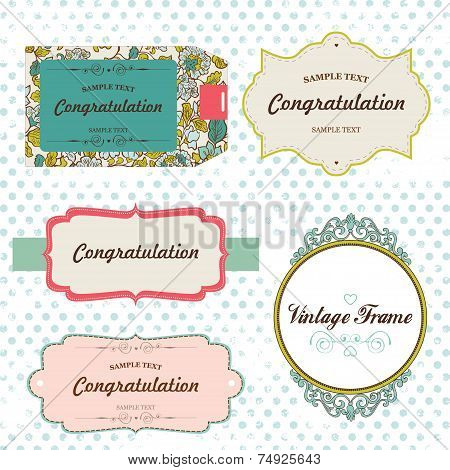 Vector Vintage Labels. Scrapbooking elements