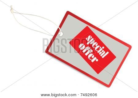 Sale Tag Special Offer Label Isolated Closeup Macro