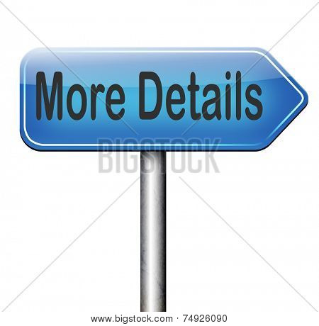 more details detailled extra information learn more about