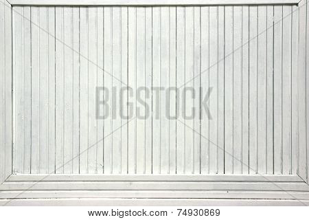White Wood Boards Advertising Panel