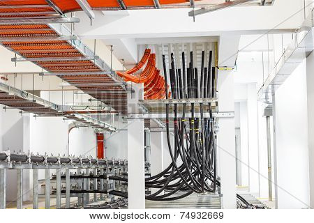 Electrical Wire Way In Power Station