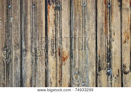 Old Weathered Wood Fence
