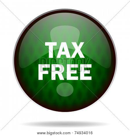tax free green internet icon