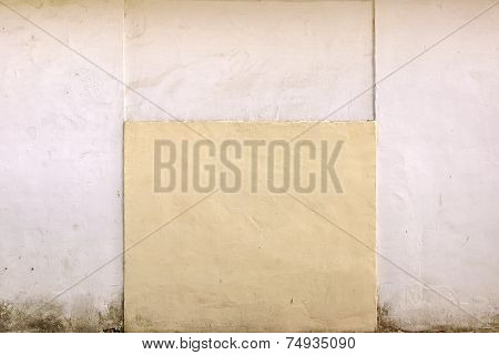 Painted White And Pastel Color Concrete Wall