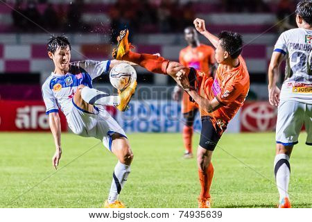 Sisaket Thailand-october 22: Tatree Seeha Of Sisaket Fc. In Action During Thai Premier League Betwee