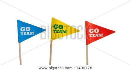 Sport Pennants On A White Background