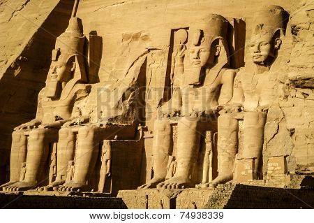 The Great Temple Of Ramses Ii At Abu Simbel, Egypt