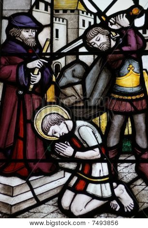 Martyrdom of St George Stained glass window