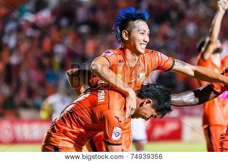 Sisaket Thailand-october 22: Watsapol Thosantia Of Sisaket Fc. In Action During Thai Premier League