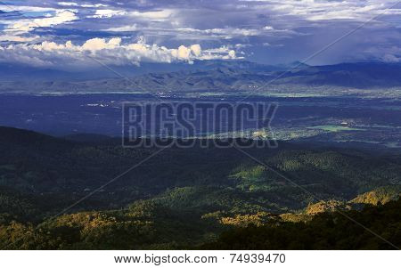 Tropical Forest And Mountain Ranges, Chiang Mai