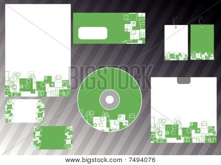 Corporate abstract design templates