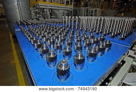 The gears of the gearbox in production