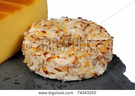 Danish soft cheese round.