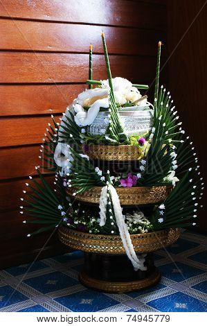 Thai Traditional Rice Offering Pedestal