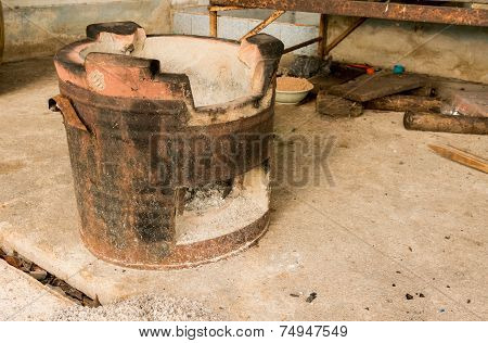 Old Charcoal Brazier