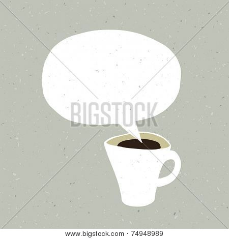 Coffee Cup Bubble Concept Illustration. Vector