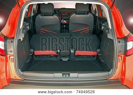 Empty trunk of the small car