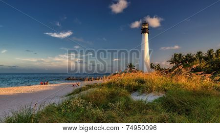 Lighthouse on the Beach, Cape Florida Lighthouse.