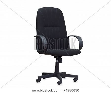 The Black Office Chair. Isolated