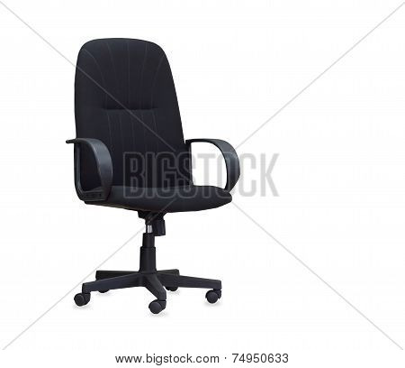 The Black Office Chair Isolated