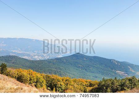 View Of Black Sea And South Coast Of Crimea