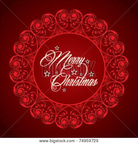 creative concept for merry cristmas stock vector
