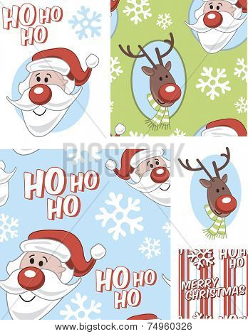 Christmas Vector Seamless Patterns. Use as fills, digital paper, or print off onto fabric to create unique items.