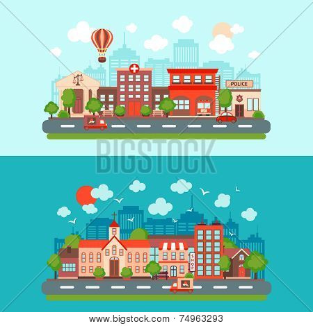 City scape set