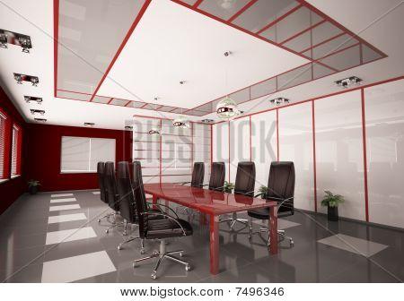 Modern Boardroom Interior 3D