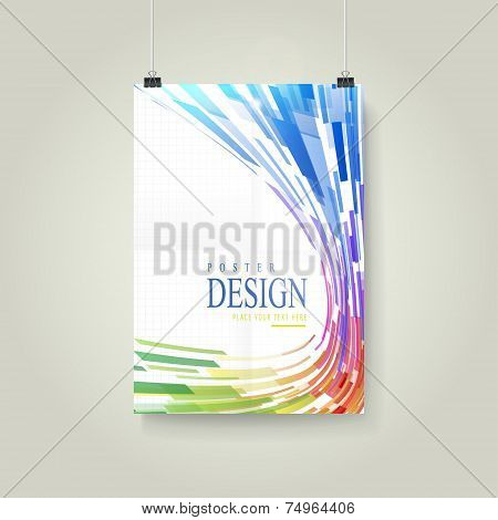 Geometric Streamlined Style Background Poster