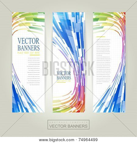 Geometric Streamlined Background Banner