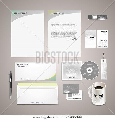 Sparkling Background Corporate Identity Set