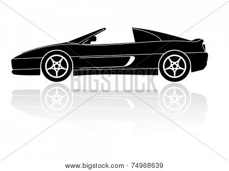 Vector Illustration of sports car with detachable roof