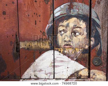 Famous Street Art Mural In Georgetown, Penang, Malaysia