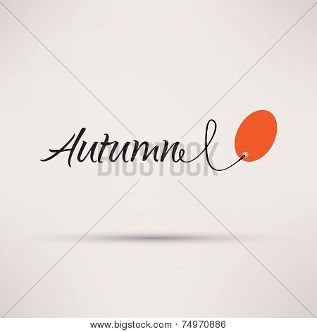 Icon of sale seasonal Autumn Isolated Vector illustration.