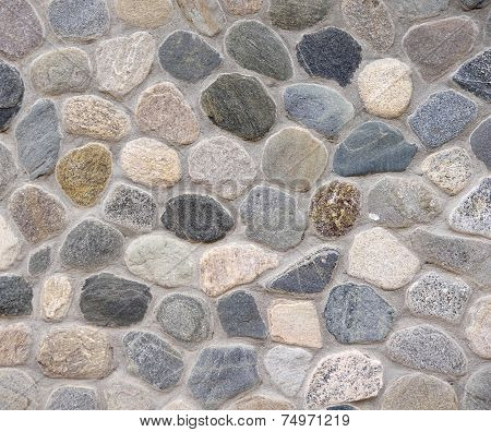 Old Colorful Stone Wall Closeup