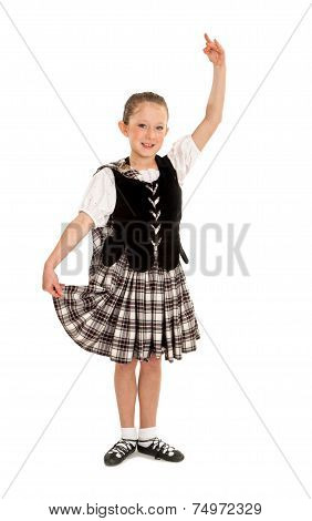 Child Irish Dancer In Costume