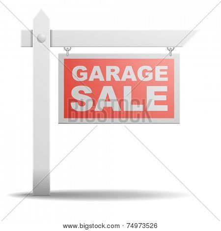 detailed illustration of a Garage Sale sign, eps10 vector