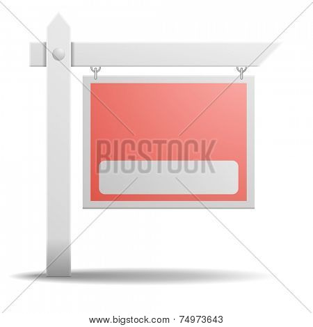 detailed illustration of an empty real estate sign, eps10 vector