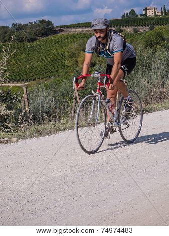 Unidentified Partipant Of L'eroica, Italy
