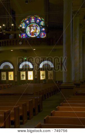 Interior of All Saints Catholic Church, Castro Valley, CA