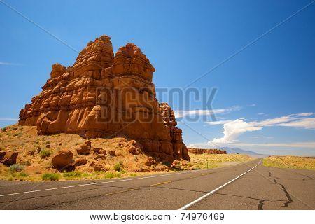 Orange Sandstone Formation In Utah