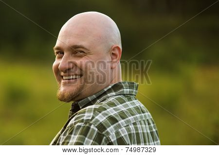 Bald Gay Men In Plaid Shirt