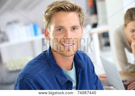 Portrait of smiling 25-year-old guy