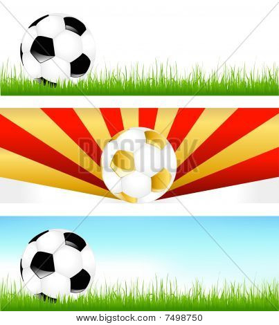 Banners With Soccer Balls